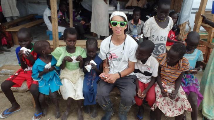 Michael Shek in Bentiu camp in South Sudan © Michael Shek/MSF