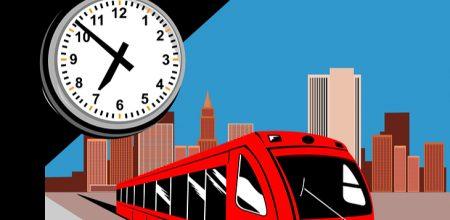 train-clock