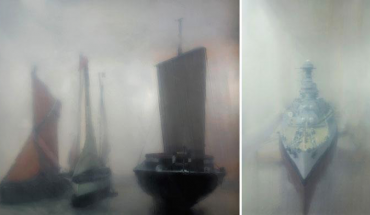 Historical ship model photographers by Anderson & Low