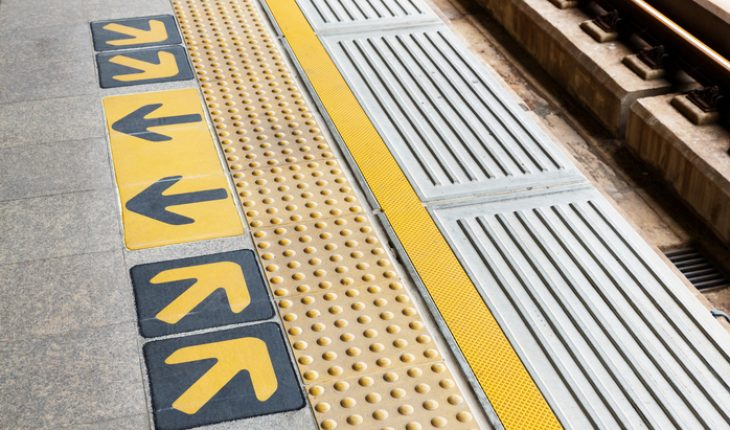 Train Station Platform Arrows