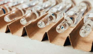 Medical ampoules with medicine in a box