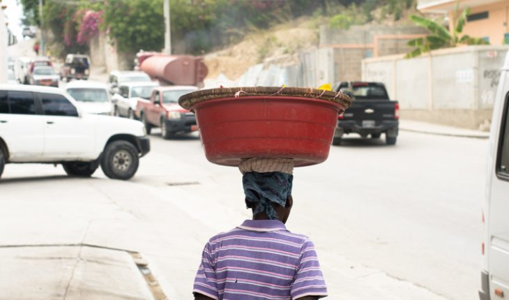 local carrying basket on head