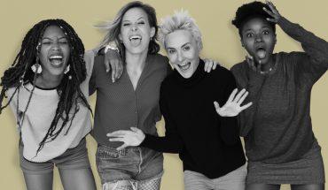 four elated women