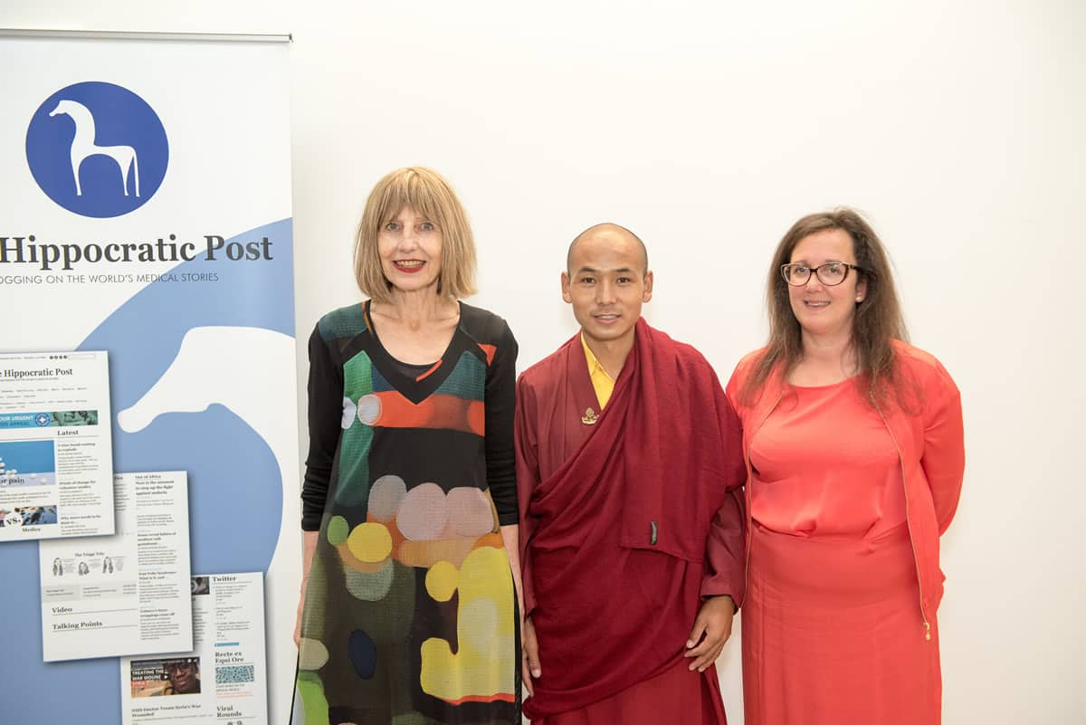 From left to right: Carole Stone, Wangchuk Rapten, Thea Jourdan