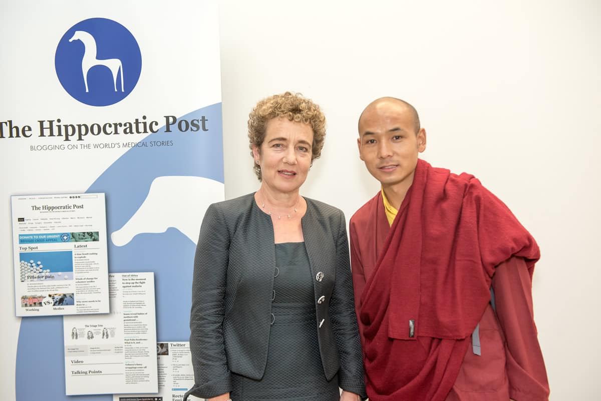 (Left to right) Professor Suzanne Franks, Wangchuk Rapten