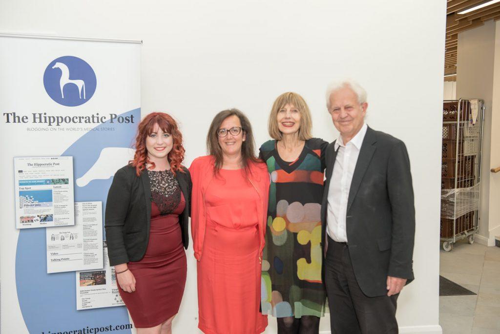 (Left to right) Sam Ryan, Thea Jourdan, Carole Stone, David Castle