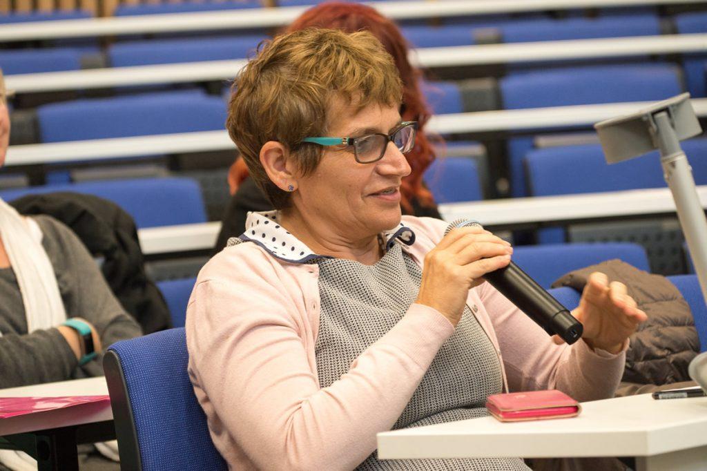 Dr Clare Gerada asking a question