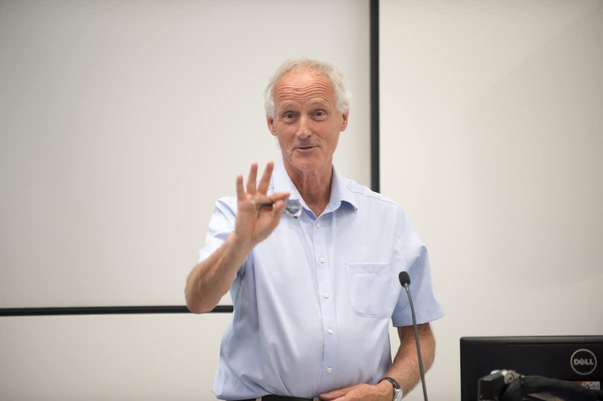 Dr Paul McMaster presenting