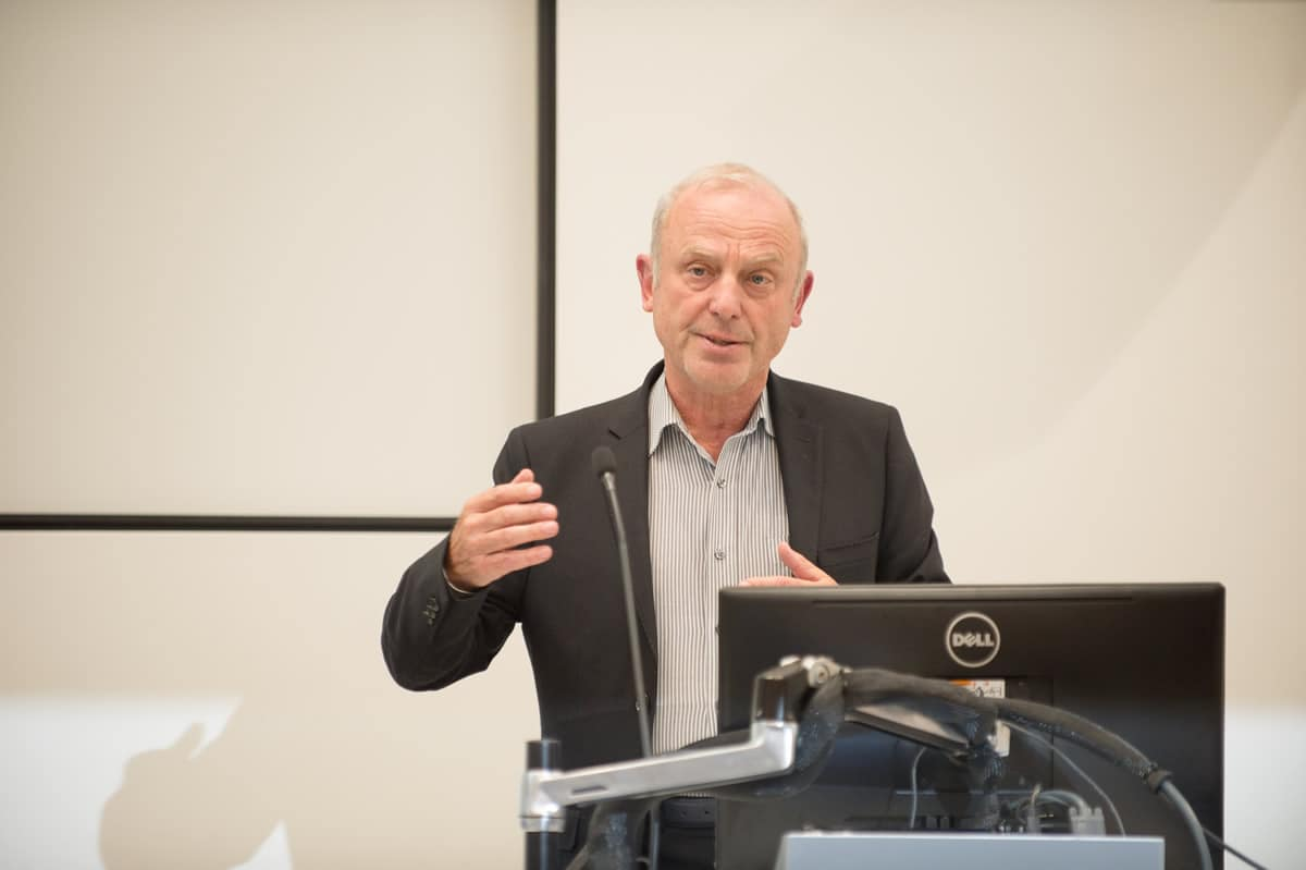 Professor Karol Sikora presenting